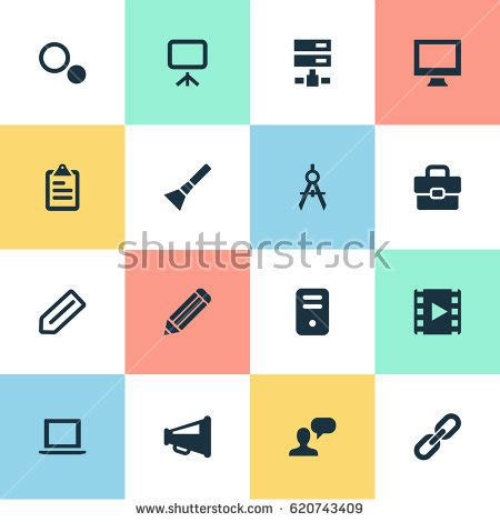 vector layout system vector illustration set simple web icons stock vector