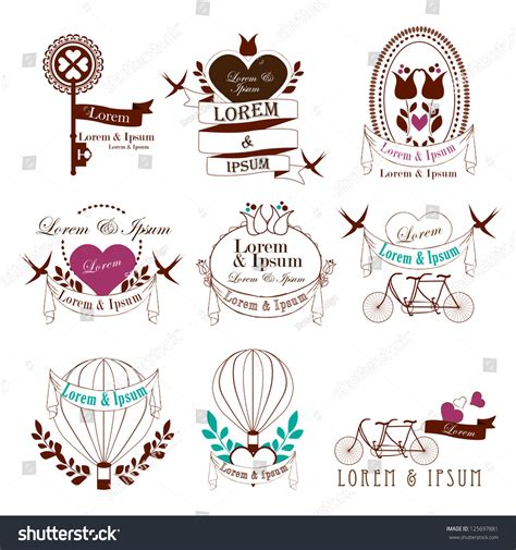 wedding design elements vector wedding vintage elements isolated on white background