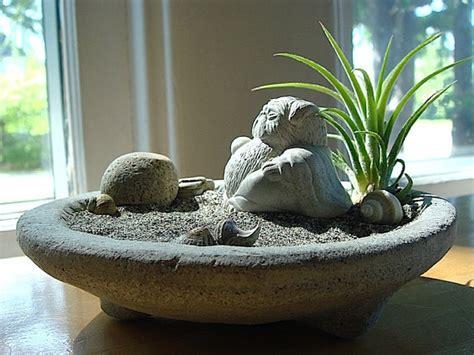 pug buddha pug gift airplant terrarium with lucky pug buddha sculpture in zen garden pug