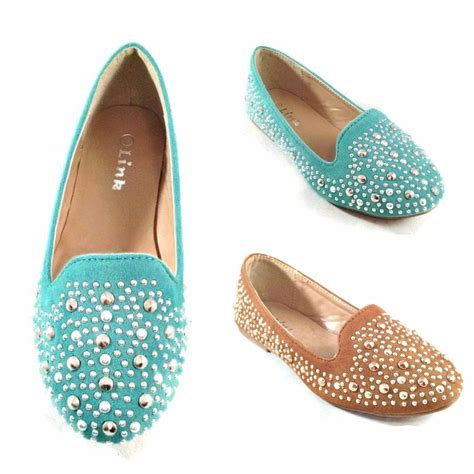 flower dress shoes studded ballet flats youth flower pageant