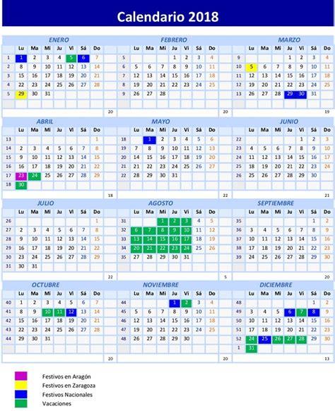 Calendario Laboral 2018 Mexico Calendario Laboral 2018 Joarjo