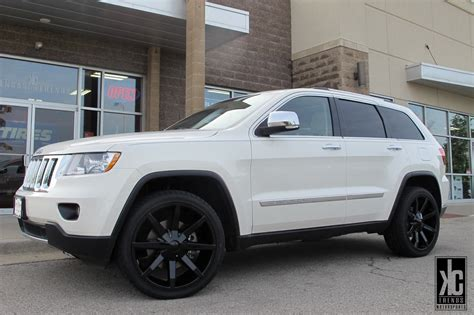 White Jeep Grand With Black Rims For Sale Kc Trends Showcase Kmc Slide Gloss Black Wheels