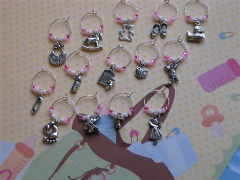 Baby Shower Wine Charms by Baby Shower Wine Charms Favors By