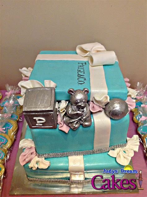 And Co Baby Shower by Co Inspired Baby Shower Cake Cakecentral