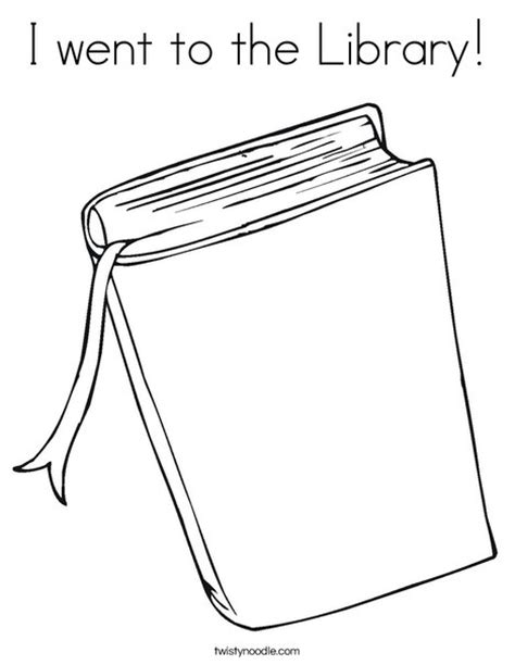 www coloring pages book for i went to the library coloring page twisty noodle
