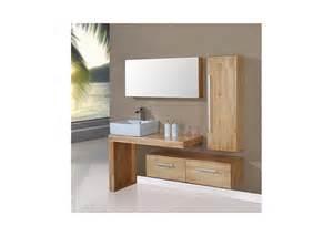 meuble de salle de bain simple vasque bois naturel