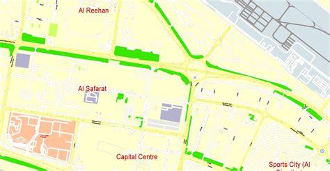 printable road map of abu dhabi abu dhabi printable map united arab emirates exact