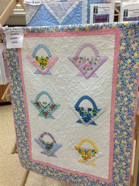 quilt pattern using handkerchiefs 84 best vintage tablecloth hankie crafts images on