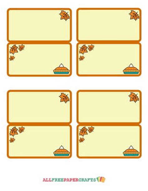 thanksgiving seating cards templates docs autumn leaf printable place cards allfreepapercrafts
