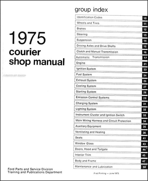 ford courier 1985 1986 factory repair manual ebay 1999 ford courier wiring diagram efcaviation com