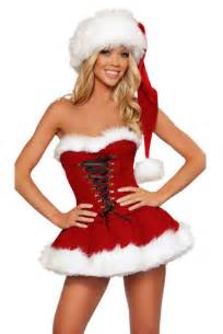 Festival red sexy women christmas costumes ladies bustier corset santa
