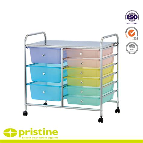 Studio Organizer Cart With Drawers by 9 Drawer Chrome Studio Organizer Cart Home Accessories