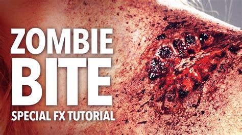 zombie bite makeup tutorial zombie bite halloween makeup tutorial youtube
