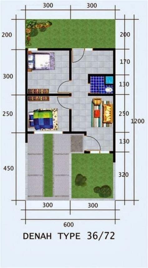 gambar denah rumah minimalis type 36 72 model terbaru design arsitektur 2015