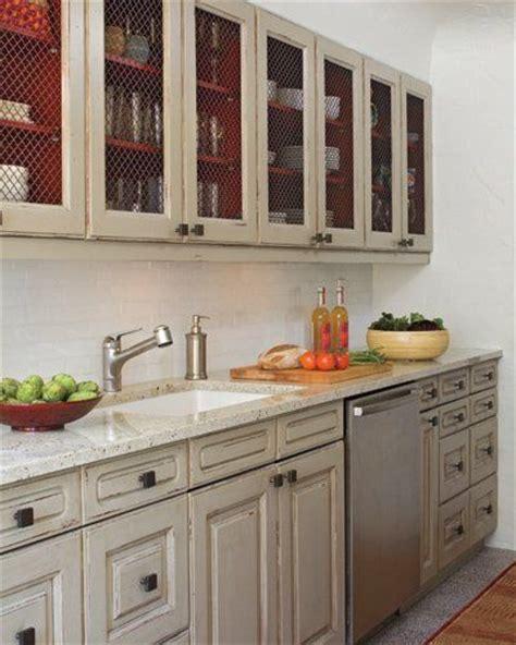 Chicken Wire Kitchen Cabinets by Best 25 Chicken Wire Cabinets Ideas On