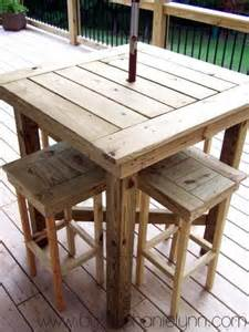Diy Outdoor Bar Table Outdoor Pallet Bar High Chairs Pallet Ideas