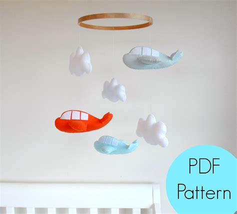 pattern for felt baby mobile maisie moo make your own felt airplane pdf pattern by