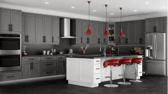 Gray Cabinets Kitchen by Shaker Grey Kitchen Cabinets We Ship Everywhere Rta Easy