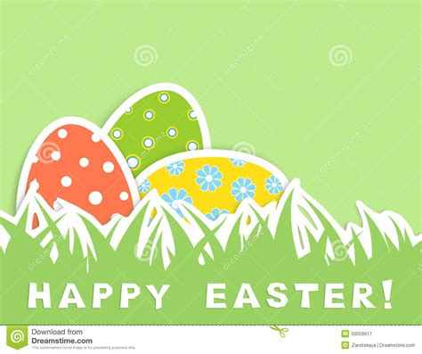 happy green color easter eggs stock illustration image 50059617