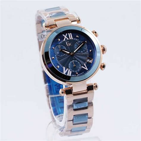 Harga Jam Tangan Merk Gc Guess termurah guess collection gc ladychic biru gold
