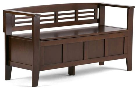 accent bench with storage 48 quot entryway storage bench transitional accent and