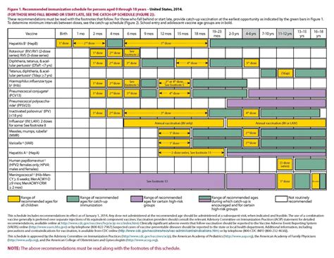 Printable Immunization Schedule | printable immunization card cdc chart of recommended