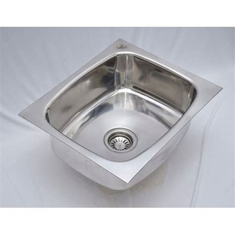 single stainless steel kitchen sink size  rs