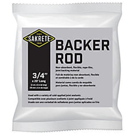 sakrete sakrete backer rod 3 4 quot x 20 ft the home depot