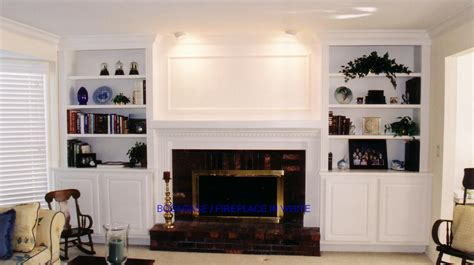 fireplace with bookshelves home design