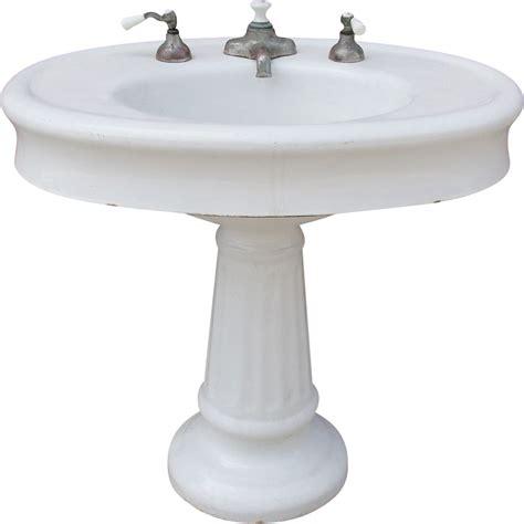 vintage antique pedestal sink antique vintage oval pedestal porcelain bathroom sink