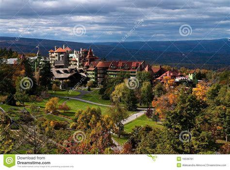 mountain house ny mohonk mountain house ny fall stock image image 16539761