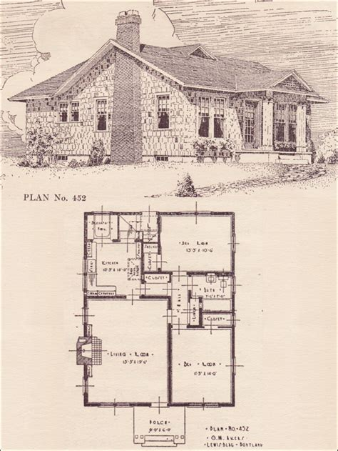 Vintage Cottage House Plans by Vintage Cottage House Plans 1920 Cottage House Plans