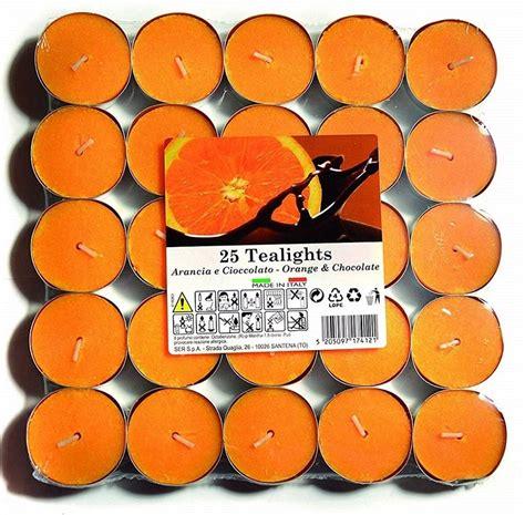 candele profumate naturali 25 candele profumate essenze arancio e cioccolato lgv