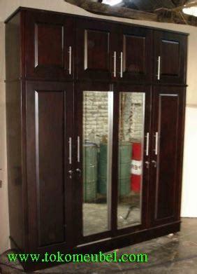 Lemari Pakaian Big Panel lemari pakaian minimalis panel 4 pintu jati jepara harga