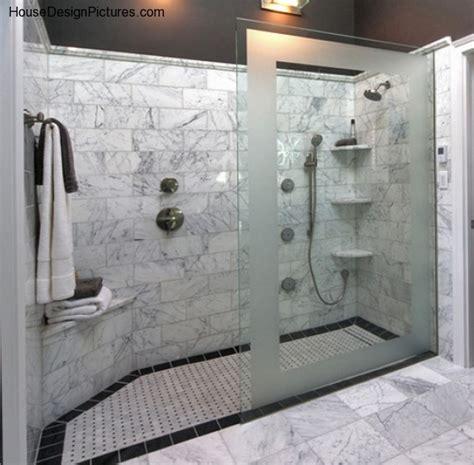 walk in bathroom ideas doorless shower design ideas housedesignpictures com