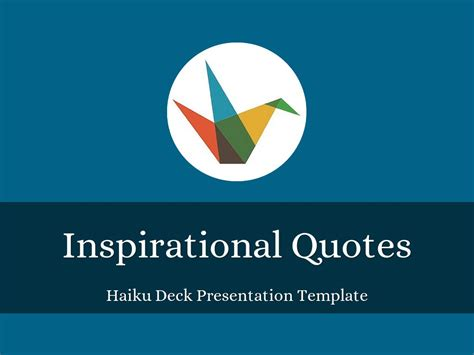 inspirational powerpoint templates haiku deck gallery and design presentations and templates