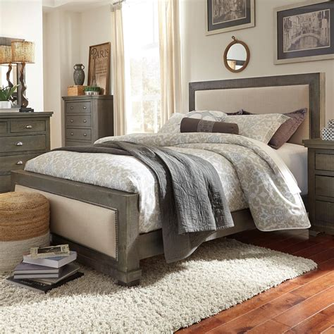 progressive willow bedroom set progressive furniture willow queen upholstered bed with