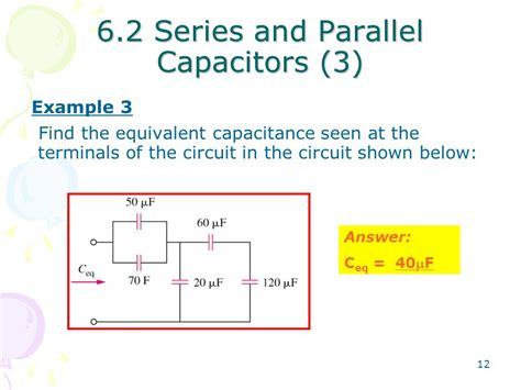 parallel capacitor equivalent chapter 6 capacitors and inductors ppt