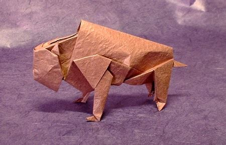 Origami Bison - cow montroll gilad s origami page