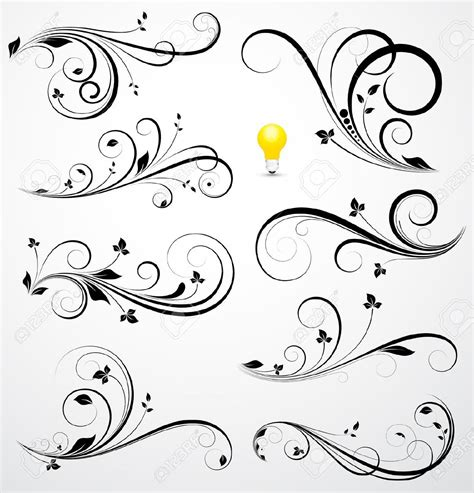 swirly tattoos swirl flower border search living room wall