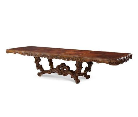 Rococo Dining Table Michael Amini Palais Royale Rectangle Rococo Cognac Dining Table By Aico
