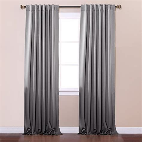 Thermal Back Curtains Best Home Fashion Thermal Insulated Blackout Curtains Back Tab Rod Pocket Grey 52 Quot W X 96