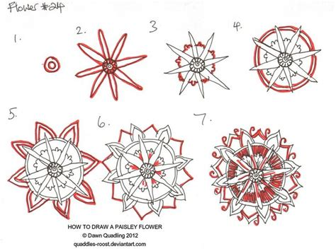 doodle flowers tutorial how to draw paisley flower 24 by quaddles roost deviantart