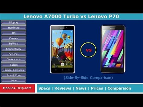 Lenovo A7000 Vs P70 Lenovo A7000 Turbo Vs Lenovo P70 Which Is Better
