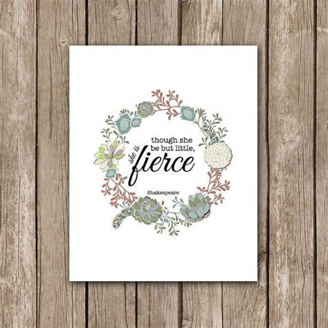 printable shakespeare quotes though she be but little she is fierce from so very