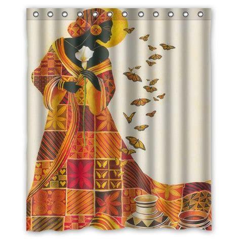 african shower curtain custom waterproof bathroom african woman shower curtain