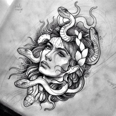 beautiful medusa tattoo design www pixshark com images