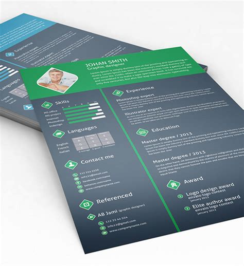 psd resume templates 85 free cv indesign resume templates in ai html psd
