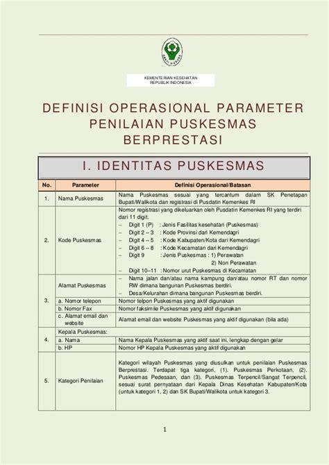 parameter penilaian kinerja do penilaian puskesmas berprestasi 2014