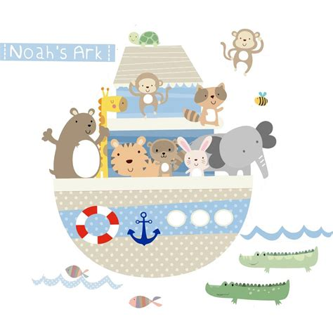 noah ark wall stickers noahs ark fabric wall stickers by littleprints notonthehighstreet
